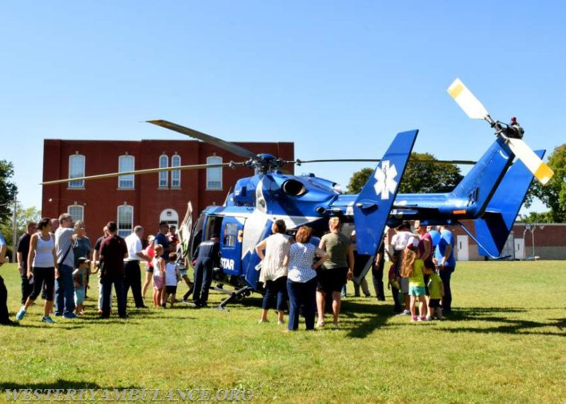 The Westerly Ambulance Corps celebrated 100 years of service at an open house Saturday at its Chestnut Street headquarters. There were tours, food, activities for children, CPR demonstrations, and a visit from Hartford Hospital's Life Star helicopter.   Anna Sullivan, The Westerly Sun
