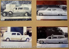 Remember when ambulances had fins? Photos of the vehicles at the ambulance corps' open house served to illustrate the evolution of emergency services over the past 100 years. | Anna Sullivan, The Westerly Sun