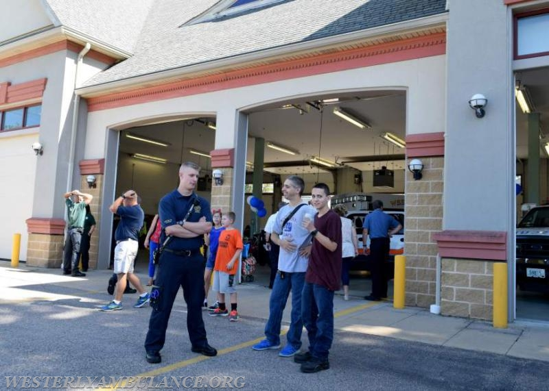 The Westerly Ambulance Corps celebrates 100 years of service at the Chestnut Street location on Saturday, September 23, 2017. The event includes facility tours, food, drink, activities for children, demonstrations of CPR, and a visit from Hartford Hospital's Lifestar Helicopter.   Anna Sullivan, The Westerly Sun