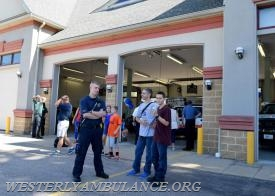 The Westerly Ambulance Corps celebrates 100 years of service at the Chestnut Street location on Saturday, September 23, 2017. The event includes facility tours, food, drink, activities for children, demonstrations of CPR, and a visit from Hartford Hospital's Lifestar Helicopter. | Anna Sullivan, The Westerly Sun
