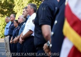 A service blessing first responders and their vehicles took place in the parking lot of Central Baptist Church in Westerly on Sunday, September 24, 2017. This was followed by a procession to Christ Church for an interfaith blessing service.This event is organized by Rev. Cal Lord of Central Baptist Church and Rev. Sunil Chandy of Christ Church and other Faith leaders. | Christine Corrigan, The Westerly Sun