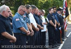 A service blessing first responders and their vehicles took place in the parking lot of Central Baptist Church in Westerly on Sunday, September 24, 2017 followed by a procession to Christ Church for an interfaith blessing service. This event is organized by Rev. Cal Lord of Central Baptist Church and Rev. Sunil Chandy of Christ Church and other Faith leaders. | Christine Corrigan, The Westerly Sun