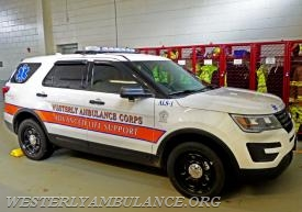 "The Westerly Ambulance Corps' new emergency response vehicle, or ""fly car,"" sits in the garage on Tuesday. The vehicle was purchased in part by funds provided by the Alfred M. Roberts Foundation in Watch Hill. Photos by Harold Hanka"