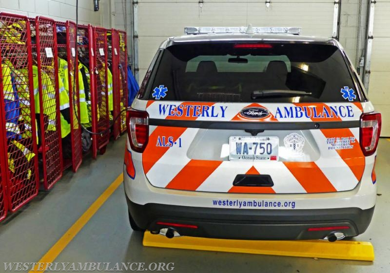 View of the Westerly Ambulance Corps new emergency response vehicle or 'fly car' on Tuesday, Nov. 14th, 2017. | Harold Hanka, The Westerly Sun